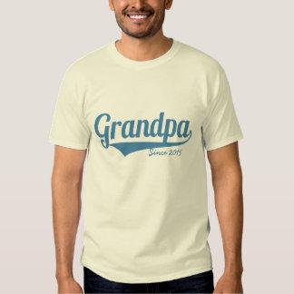 Custom grandpa since year tee shirt