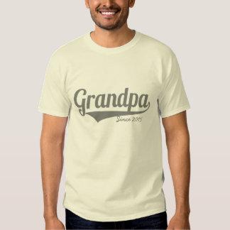 Custom grandpa since year tees