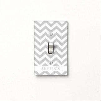 Custom Gray Chevron Light Switch Cover