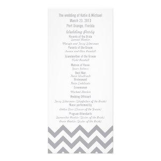 Custom Gray Chevron Wedding Programs