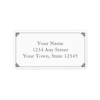 Custom Gray Pre-Printed Address Labels Labels