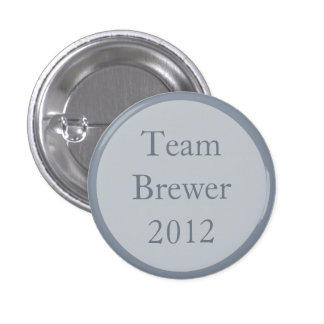 Custom Gray Wedding Party Team Pinback Buttons Pin