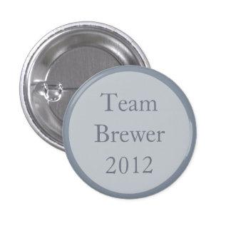 Custom Gray Wedding Party Team Pinback Buttons Pin