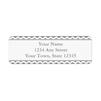 Custom Gray & White Return Address Labels