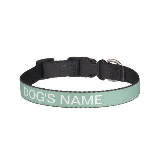Custom Grayed Jade Stylish Color Matched Pet Collar