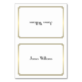 Custom Great Gatsby Art Deco Gold Place Cards