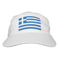 Custom Greek flag knit and woven sports hats