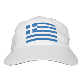 Custom Greek flag knit and woven sports hats Headsweats Hat