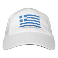 Custom GREEK flag sports hats for Greece