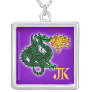 Custom Green and Gold Dragon Necklace