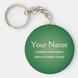 Custom Green Basic Keychain Text Template