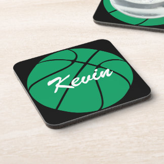 Custom Green Basketball Coasters