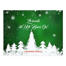 Custom, green Basque Navidad Christmas greeting: Postcard