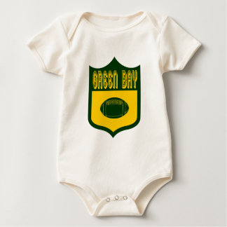 Custom Green Bay Shield Design Baby Bodysuit