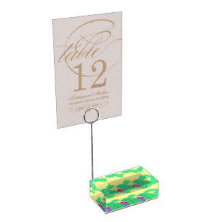 Custom Green Easter Bunny & Eggs Place Card Stand Table Card Holders