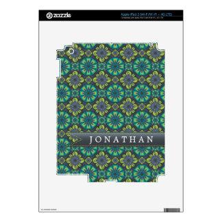 Custom Green Grey Tile Decals For iPad 3
