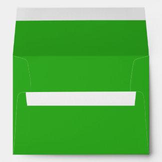 Custom Green Invitation / Greeting Card Envelopes