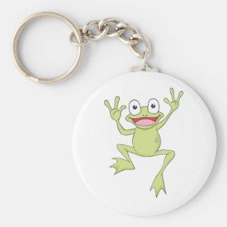 Custom Green Jumping Frog Keychain