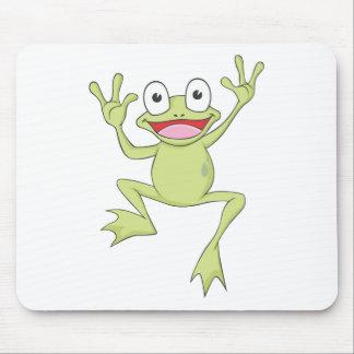 Custom Green Jumping Frog Mousepad
