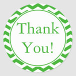 Custom Green Thank You Sticker and Favor Label Stickers