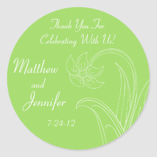 Custom Green Wedding Favor Labels or Gift Tags