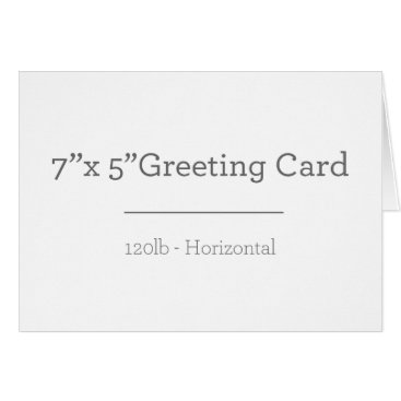 Beach Themed Custom Greeting Card