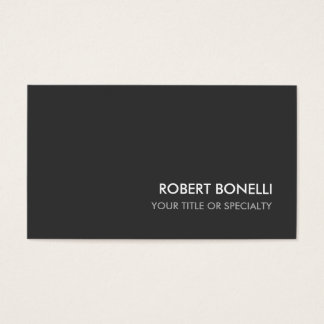 Custom Grey Elegant Plain Standard Business Card