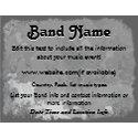 Custom Grey Grunge Band flyer