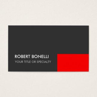 Custom Grey Red Elegant Standard Business Card