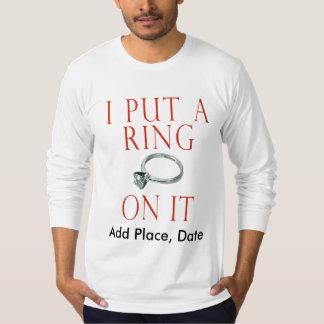 Custom Groom Engagement Shirt