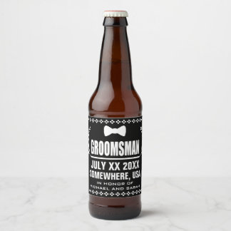 Custom Groomsman Beer Bottle Label
