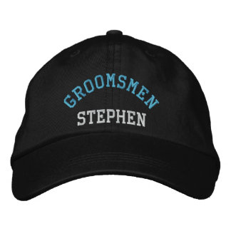 Custom groomsmen bachelor blue baseball cap