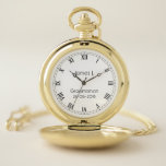 """Custom Groomsmen Gift personalized Gold Pocket Watch<br><div class=""""desc"""">Custom personalized pocket watch for groomsmen. Great gift idea to personalize with name or photo.</div>"""