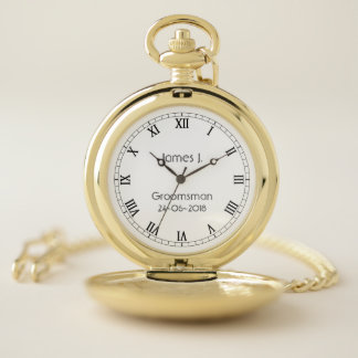 Custom Groomsmen Gift personalized Gold Pocket Watch