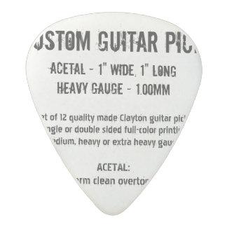Custom Guitar Pick - Acetal, Heavy Gauge 1.00mm Acetal Guitar Pick