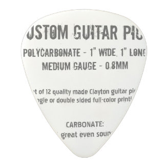 Custom Guitar Pick - Carbonate, Medium Gauge 0.8mm
