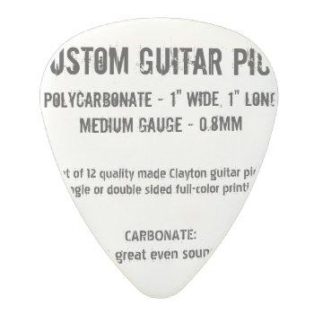 Custom Guitar Pick - Carbonate  Medium Gauge 0.8mm by custom_guitar_pick at Zazzle