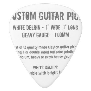Custom Guitar Pick - Delrin  Heavy Gauge 1.00mm by custom_guitar_pick at Zazzle