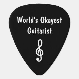 Custom guitar pick for World's Okayest Guitarist