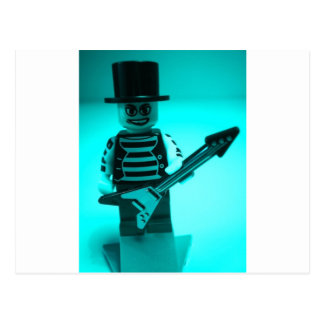 Custom Guitarist Minifigure with Guitar Postcard