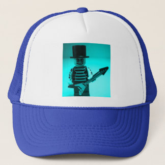 Custom Guitarist Minifigure with Guitar Trucker Hat