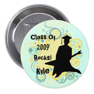 Custom Guy's Hip  Graduation Buttons