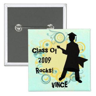 Custom Guy's Rockin'  Graduation Pin