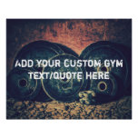Custom GYM text/quote poster