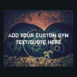 """Custom GYM text/quote poster<br><div class=""""desc"""">Add your own text to this stylish gym poster.</div>"""