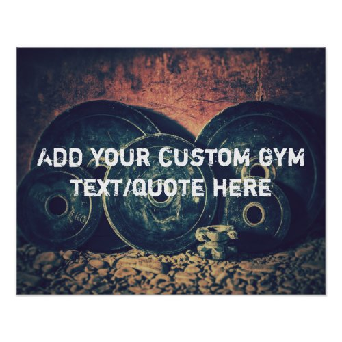Custom GYM textquote poster