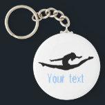 "Custom Gymnastics Dance Cheer Keychains<br><div class=""desc"">gymnastics dance cheer keychains</div>"