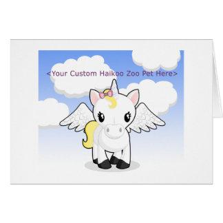 Custom Haikoo Zoo Greeting Card (Blank)