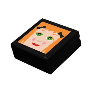 Custom Hair Color Big Eyes Cartoon Girl Box