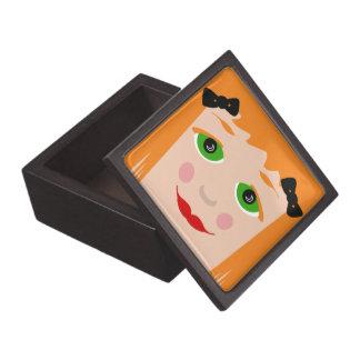 Custom Hair Color Big Eyes Cartoon Girl Wood Box